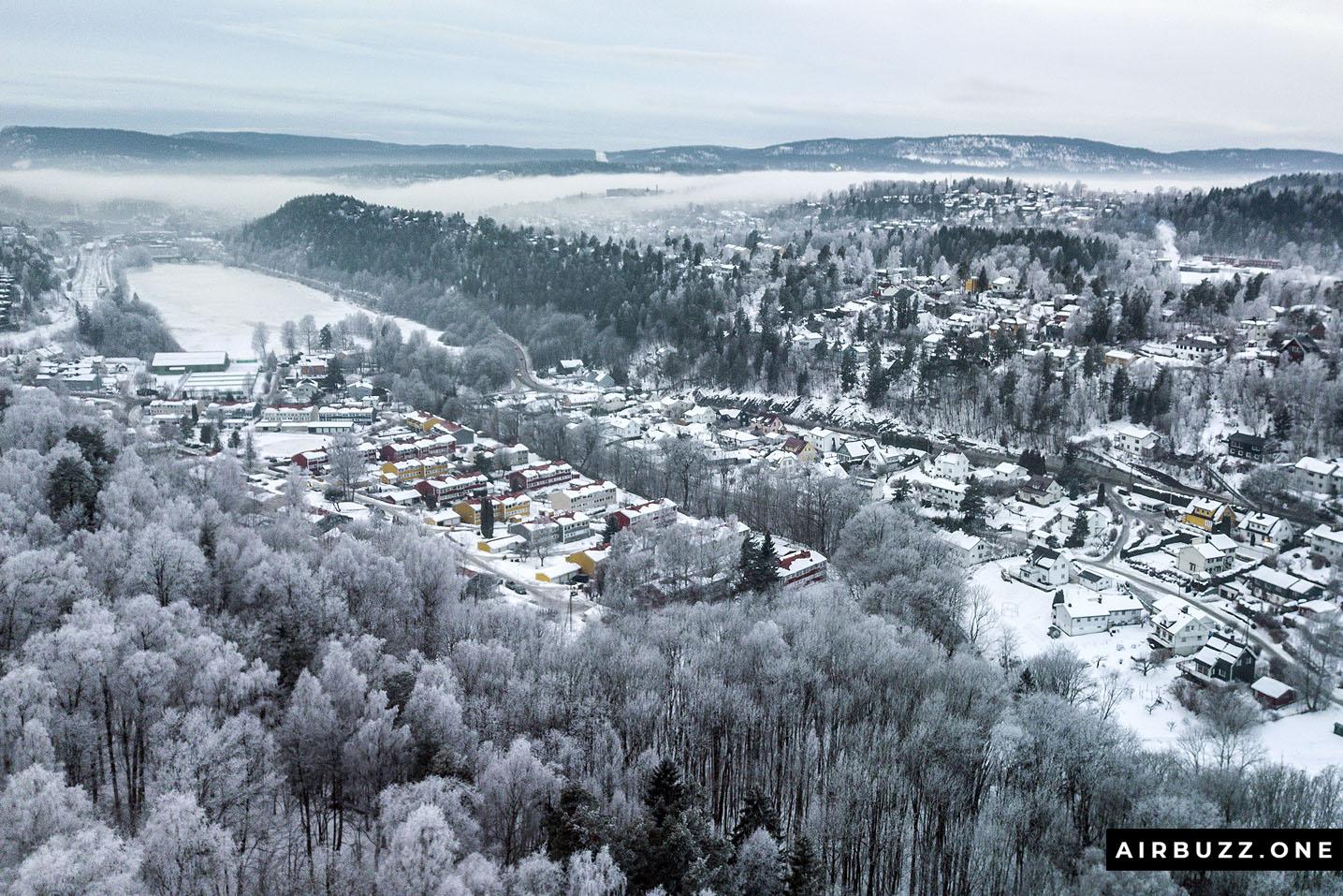 Blommenholm during winter.