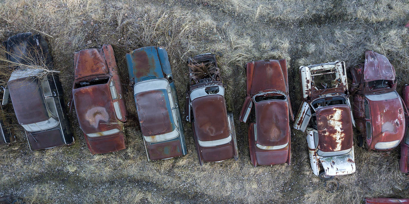 Drone Pictures Of Bastnas Car Cemetery Airbuzz One Drone Blog