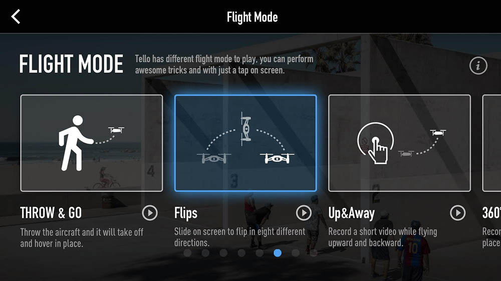 Flight Mode menu
