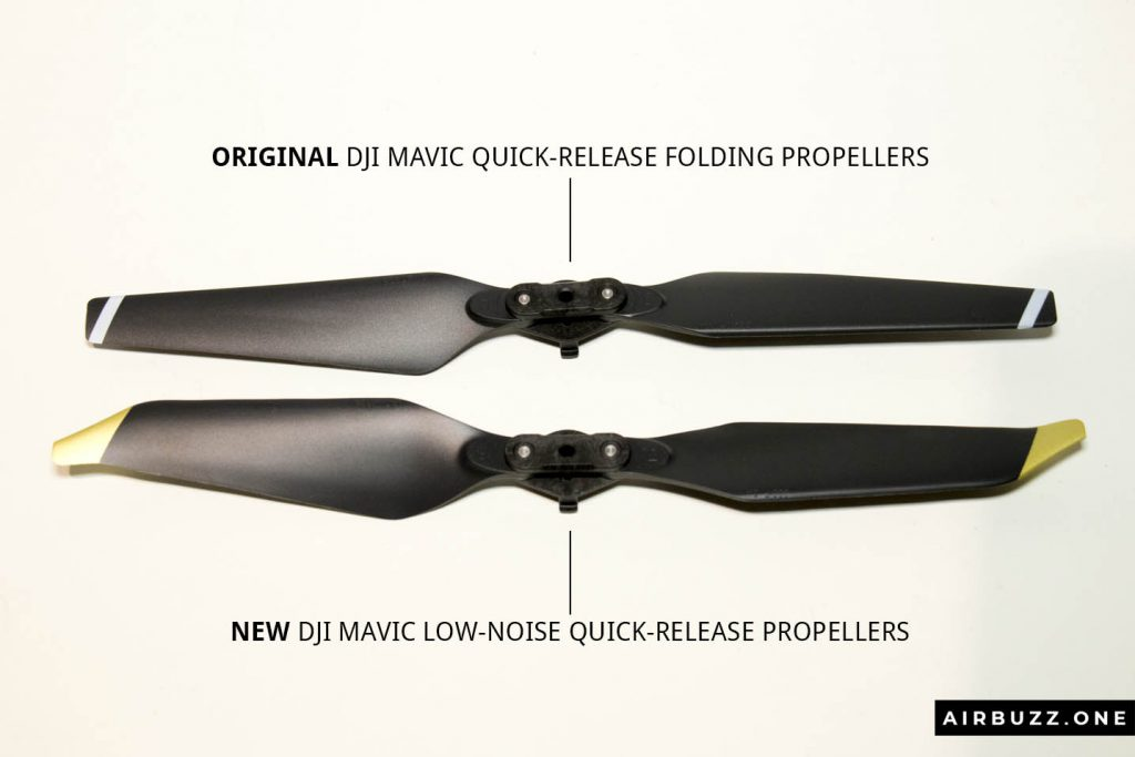 Comparison of the DJI Mavic propellers.