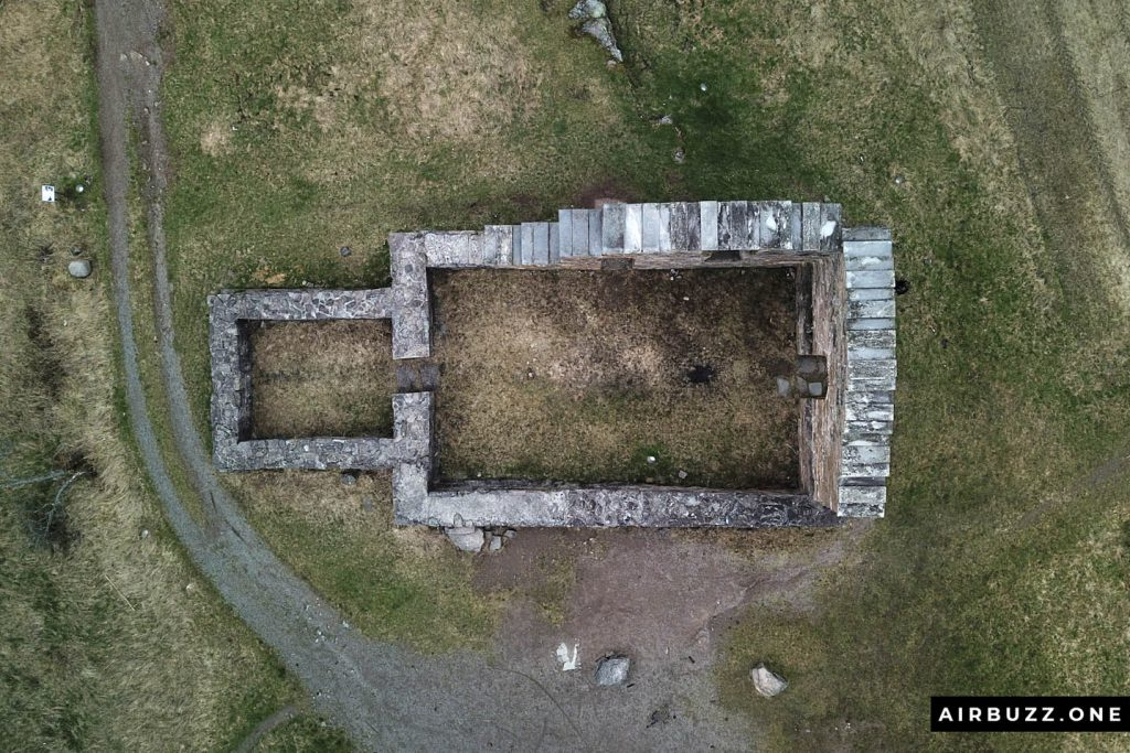 "Drone picture of ""Kirkeruinene i Maridalen"""