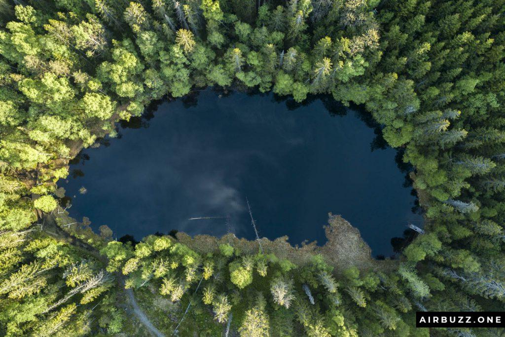 Fiskelaustjernet by drone.