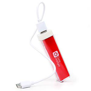 High Capacity Universal Power Bank in Bright Red
