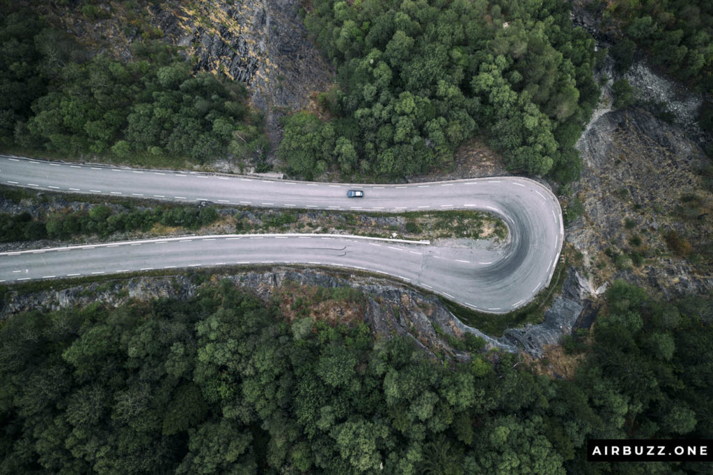 Hey, I managed to take another cool hairpin drone shot!