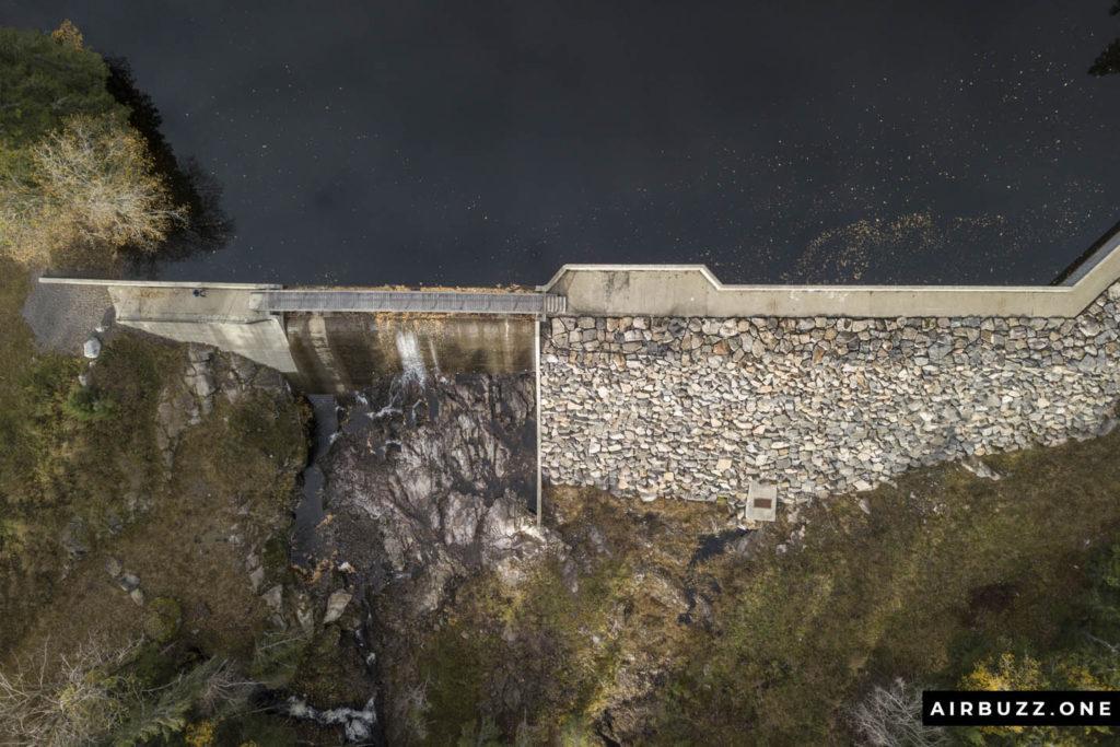 Newly renovated Norwegian dam.