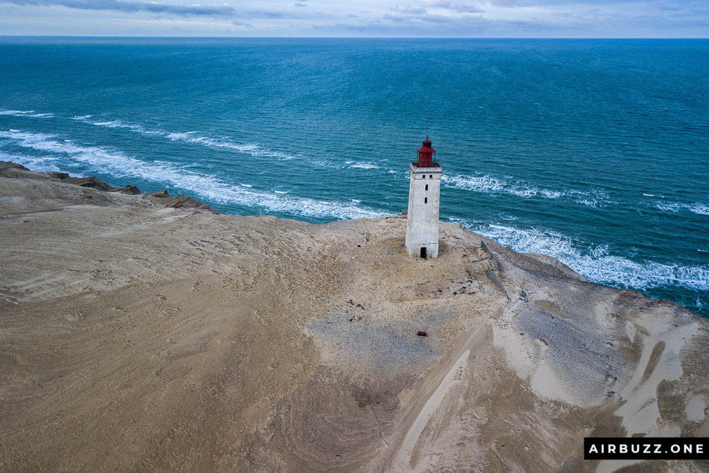 The large sand dunes that once made the lighthouse abandoned are gone.