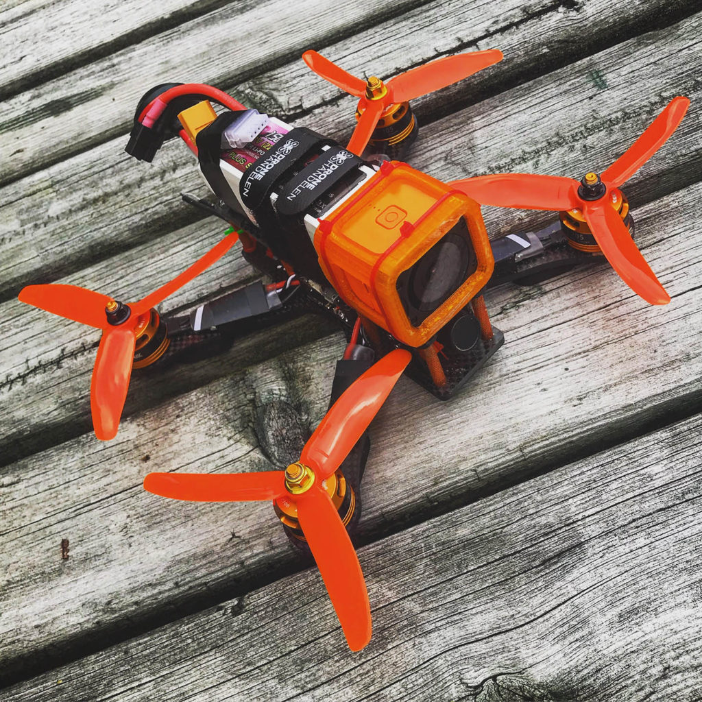 5 inch self build FPV drone called Firebird